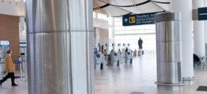 Complete Stainless Column Cover Winnipeg Airport
