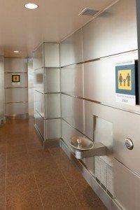 stainless steel washroom paneling